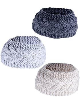 3 pcs Diadema Mujer de Punto Turbante para Mujer Cinta para el Pelo Banda Headband Elástico Accesorios para el...