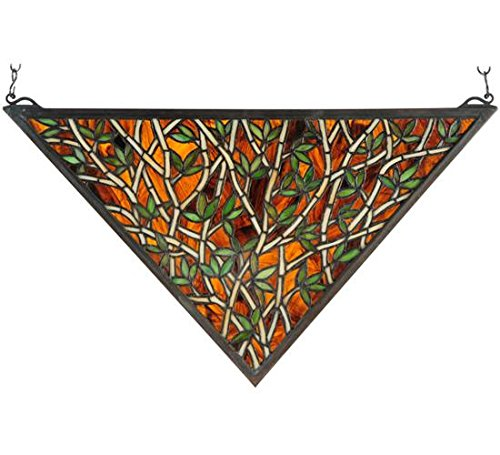 Meyda 54,6cm W x 30,5cm H Bambus Glasfenster