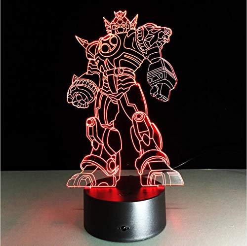 Neue Kühle Anime Transformation 3D Lampe Kinder Spielzeug Action-Figuren Film Robot Led Nachtlicht 7 Farben Jungen Geschenke Ping (Ping Film)