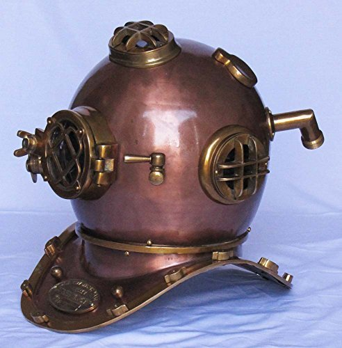 Shiv Shakti Enterprises Marine Nautical Deep See Divers Helmet Beautiful Antique Style Decorative Diving Helmet Desk Replica by Shiv Shakti Enterprises