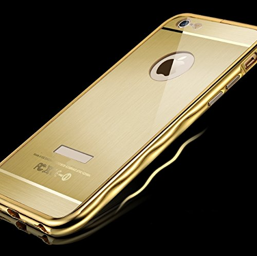 "Qinda Luxury Curved Metal Bumper case Cover for Apple iPhone 6 4.7"" (Gold) (Original Qinda Brand) (NOT for iPhone 6 Plus)"