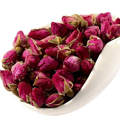 MQUPIN Rose Bud Tea Dried Red Rose Petal Flower Edible Buds Detox Tea -3Pack/250g