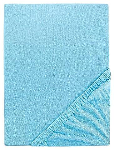 Aminata Kids Spannbettlaken 70x140 blau türkisblau Feinjersey Jersey Spannbetttuch Kinderbett