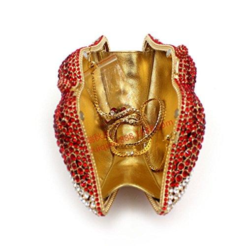 Damen-Luxus-Diamant-Dinner-Paket High-End-Handtasche Red