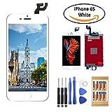 iPhone 6S LCD Touch Bildschirm Digitizer Reparaturset TPEKKA Komplettes Display Glas Ersatz Set für iPhone 6s DIY Installation mit Werkzeuge (Weiß)