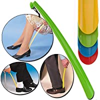 zhongjiany Convenient Shoe Horn Extra Long Plastic Boot Mobility Easily Slip On Shoes