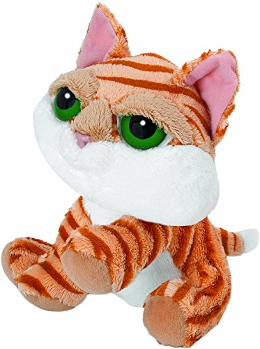 Suki Gifts Li'l Peepers Cats And Dogs Lily Tabby Cat Soft Boa Plush Toy (Orange/ White)
