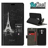 Custodia a Libro per Huawei Mate 10 Pro, [Funzione di supporto] Becool®. Protegge e si adatta alla perfezione al tuo Smartphone e oltrettutto ha il nostro disegno esclusivo. Incontro a Parigi.