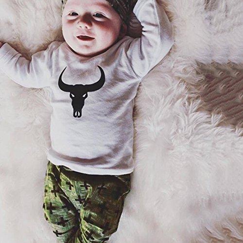ZHOUBA Baby Jungen (0-24 Monate) Bekleidungsset As the pictures show 18-24 (Muster Kleinkind Kuh Kostüm)