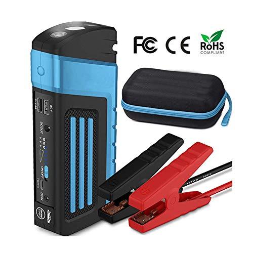 QUARK 600A 20000mAh démarreur de Voiture Portable de démarrage, Batterie d'urgence Booster Pack avec Deux Sorties de Charge USB, Lampe de Poche LED