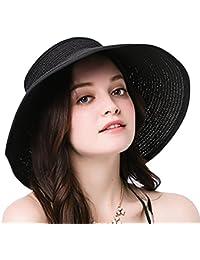 Leisial Mujer Sombrero Sol Gorro Ancho De Sol Color Sólido Diseño Elegante  del Bowknot Casquillo De 6071c2865f7