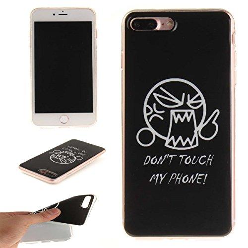 iPhone 7 Plus Custodia Slim Leggero Flessibile TPU Immagine Fiore Fucsia Case per Apple iPhone 7 Plus 5.5 Bianca Colore-8