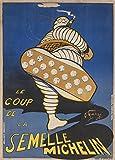 Vintage Automobil Michelin. Le Coup de la Einlegesohlen Michelin, Frankreich, 1905. 250gsm, Hochglanz, A3, vervielfältigtes Poster