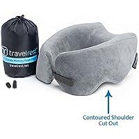 Oreiller en Mousse à mémoire de Forme Ultimate Travelrest® - Oreiller Ergonomique et breveté - Lavable - Compresse au Quart de sa Taille (Garantie de 2 Ans)