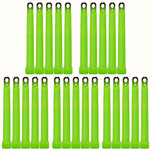 25 Ultra High Power Notfall Knicklichter GRÜN bis zu 45 Min. Leuchtkraft - extrem hell - inkl. Zubehör (150x15mm) -