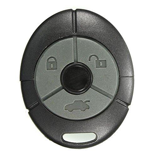 SODIAL 3-Button Kit per La Riparazione della Batteria FOB della Chiave A Distanza per Switch Rover MG ZR Tf ZS ZR Zt Nero