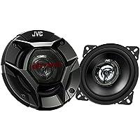 JVC CS-DR420 - Altavoces de coche (coaxiales de 2 vías, 220 W pico / 35 W RMS de potencia, 10 cm) negro