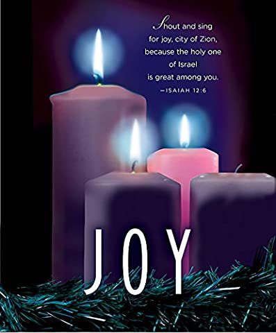 Joy Advent Candle Sunday 3 Bulletin, Large, Pkg of 50: Package of 50