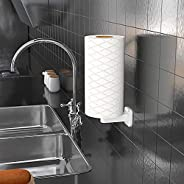 UniHome Wall Mount Paper Towel Holder & Dispenser, Self-Adhesive No Drilling Removable Tissue Paper Towel Roll Holder for Kit
