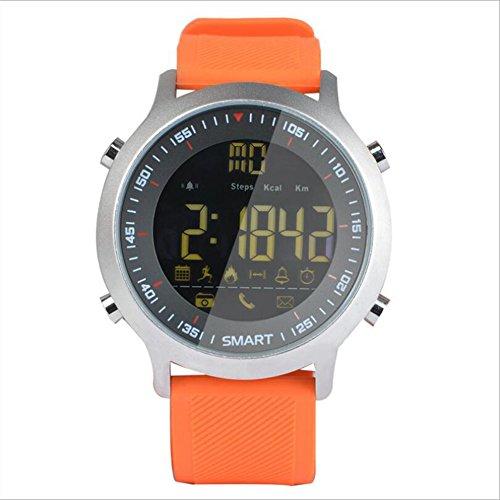 Grand EX18 Smart Watch Sport Schrittzähler Wecker Bluetooth Wasserdicht Leuchtend Lange Standby,Orange