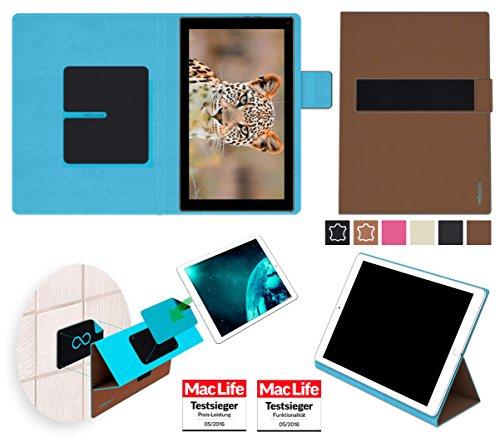 reboon Hülle für Blaupunkt Endeavour 101G Tasche Cover Case Bumper | in Braun | Testsieger