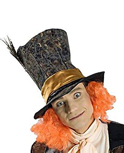 Karneval-Klamotten Hutmacher Hut mit Haaren Alice im Wunderland