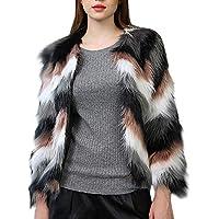 Keepwin Frauen Winter Warm Plüsch Kurz Parka Oberbekleidung Dick Faux Pelz Jacke Flauschige Strickjacke