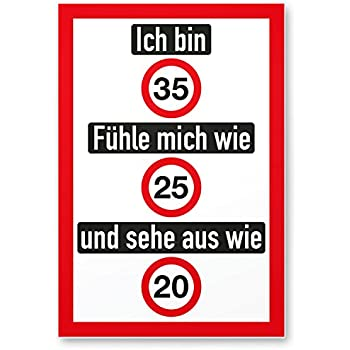 DankeDir! 35. Geburtstag Kunststoff Schild (20 x 20 cm