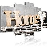 murando Bilder Home 100x50 cm - Vlies Leinwandbild - 5 Teilig - Kunstdruck - Modern - Wandbilder XXL - Wanddekoration - Design - Wand Bild - Abstrakt m-B-0031-b-m