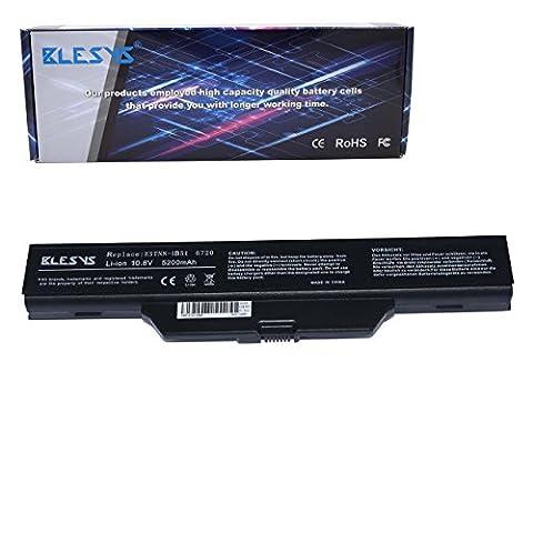 BLESYS - 5200mAh HP 6730s batterie, HP 6720s batterie, hp 550 batterie, Compaq 6720S batterie, COMPAQ 615 batterie Batterie pour ordinateur portable Replace pour HSTNN-IB51, 491278-001, GJ655AA, HSTNN-LB51