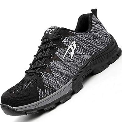 tqgold® Sicherheitsschuhe S3 Herren Damen Arbeitsschuhe Leicht Sportlich Sneaker Schutzschuhe mit Stahlkappe