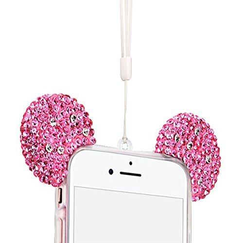 Cover iPhone 7 / iPhone 8 (4.7 pollici) Case Spiritsun Moda Ultraslim TPU Case Elegante Carina Souple Flessibile Morbido Silicone Copertura Perfetta Protezione Bling Bling Shell Paraurti Custodia Per  Rosa Rossa