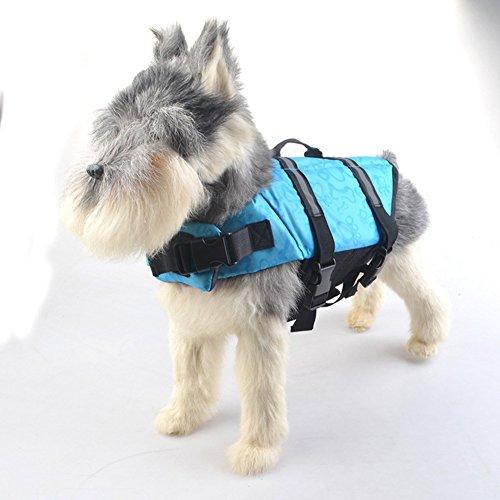 Pet Online Schwimmwesten für Hunde outdoor Hund schwimmen Weste Hund sicher Flotation Gerät Anzug reflektierende komfortablen Befestigung Pet Schwimmweste mit Band, gelb, m (Shark Anzug Für Hunde)