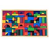 Bunte Bausteine, neue Mode-Multifunktions-Holz 112 Farbe Bausteine Kinder früher Bildung Puzzle Eltern-Kind-Spielzeug für 3-6 Jahre alt