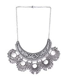 A1 Sovereign Fashions Oxidised Silver Plated Afgani Mirror Necklace