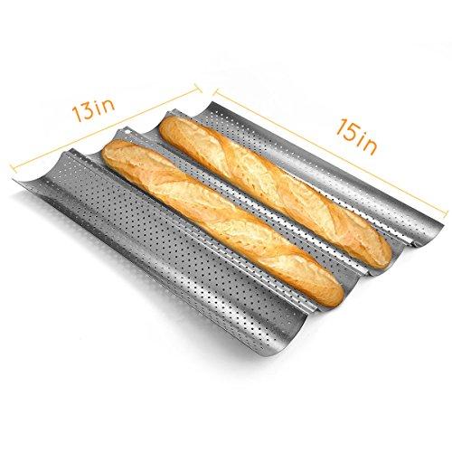 Kuchenform Backform Naisi für Französisch Brot Baguettes Metall Silber
