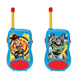 LEXIBOOK- Toy Story 4 Woody Buzz Lightyear Walkie-Talkie, Clip da Cintura, Batteria, Blu/Rosso, TW12TS, Colore
