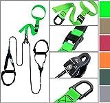 eaglefit® Sling Trainer mit Umlenkrolle, Trainingsposter - Modell 2016, grün