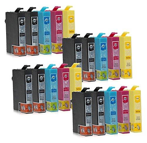Preisvergleich Produktbild 20 Druckerpatronen kompatibel zu Epson T1295 (8x Schwarz, 4x Cyan, 4x Magenta, 4x Gelb) passend für Epson Stylus Office B-42-WD BX-305-F BX-305-FW BX-305-FW-Plus BX-320-FW BX-525-WD BX-535-WD BX-625-FWD BX-630-FW BX-630 BX-635-FWD BX-925-FWD BX-935-FWD SX-230 SX-235 SX-235-W SX-420 SX-420-W SX-425-W SX-430 SX-430-W SX-435-W SX-438-W SX-440 SX-440-W SX-445-W SX-525-WD SX-535-WD SX-620-FW WorkForce 525 630 WF-3010-DW WF-3500 WF-3520-DWF WF-3530-DTWF WF-3540-DTWF WF-7015 WF-7515 WF-7525