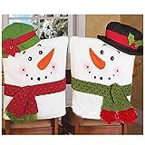Ninasill Weihnachten Hat Stuhl, ღ ღ Exklusive 2Pcs Weihnachten Schneemann Stuhl Umfasst Home Dekoration Casual As Show Rot