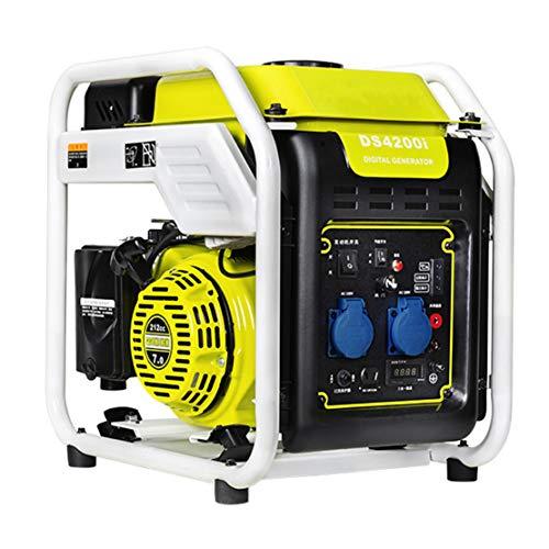 HIOD Generador de Inversor de Gasolina Generador de Emergencia Silencioso 3500w 3.5kva 220v Onda Sinusoidal Pura para Cámping Casa RV