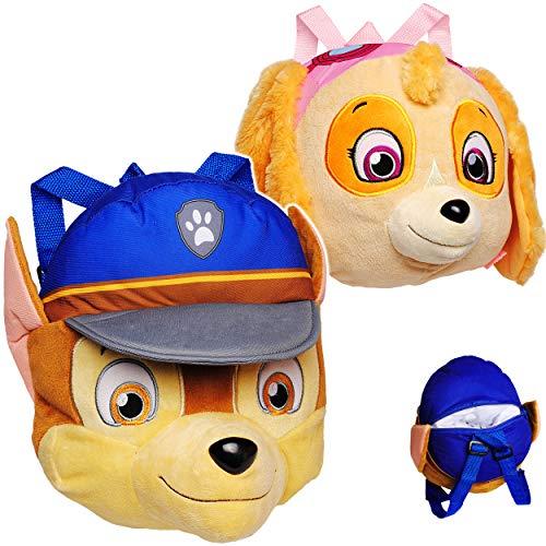 alles-meine.de GmbH 2 TLG. Set _ Plüsch - Rucksack & Kuscheltier - XL groß - Paw Patrol - Hund Chase + Skye - Kinderrucksack / Plüschtier - für Kinder Kindergartenrucksack Kinder..