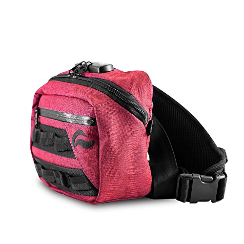 Fall-combo-pack (Skunk Kross Geruch Proof Fanny Pack Hipster Bag w/Combo Lock, Burgunderfarben)