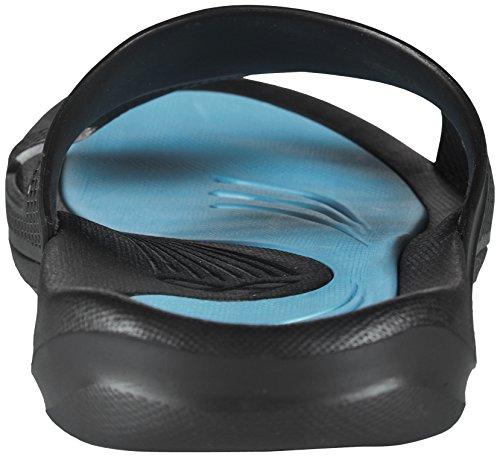 Arena Herren Poolsandale Hydrofit, Chaussures de Plage et Piscine Homme Noir/Turquoise