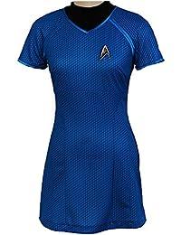 Fuman Star Trek Into Darkness Marcus Shirt Kleid Uniform Cosplay Kostüm Blau
