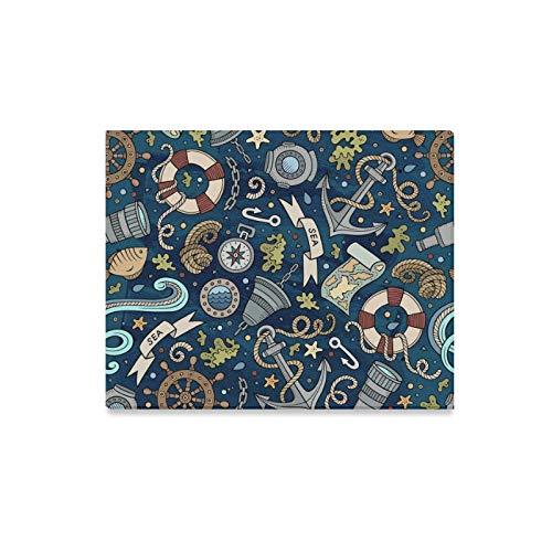 lerei Cartoon Handdrawn Nautische Marine Drucke Auf Leinwand Das Bild Landschaft Bilder Öl Für Home Moderne Dekoration Druck Dekor Für Wohnzimmer ()