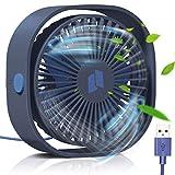 TedGem USB Ventilator, Handventilator Ventilator Klein PC Ventilator USB Mini Ventilator 3 Geschwindigkeiten, USB Lüfter Geräuscharm, USB Fan Einfach zu Tragen, für Büro, Zuhause und im Freien