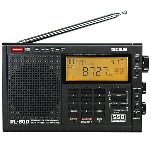 TECSUN PL-600 Multiband Radio Receiver LW/MW/SW-SSB/FM Estereo/. - 6v Ac-receiver