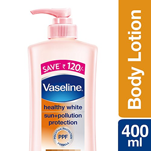 Vaseline Healthy White Sun + Pollution Protection Body Lotion, 400ml