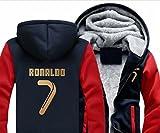 VIOY Ronaldo C Ronald Plus n ° 7 Chandail de Velours Hommes et Femmes Automne et Hiver lâche Veste à Capuche